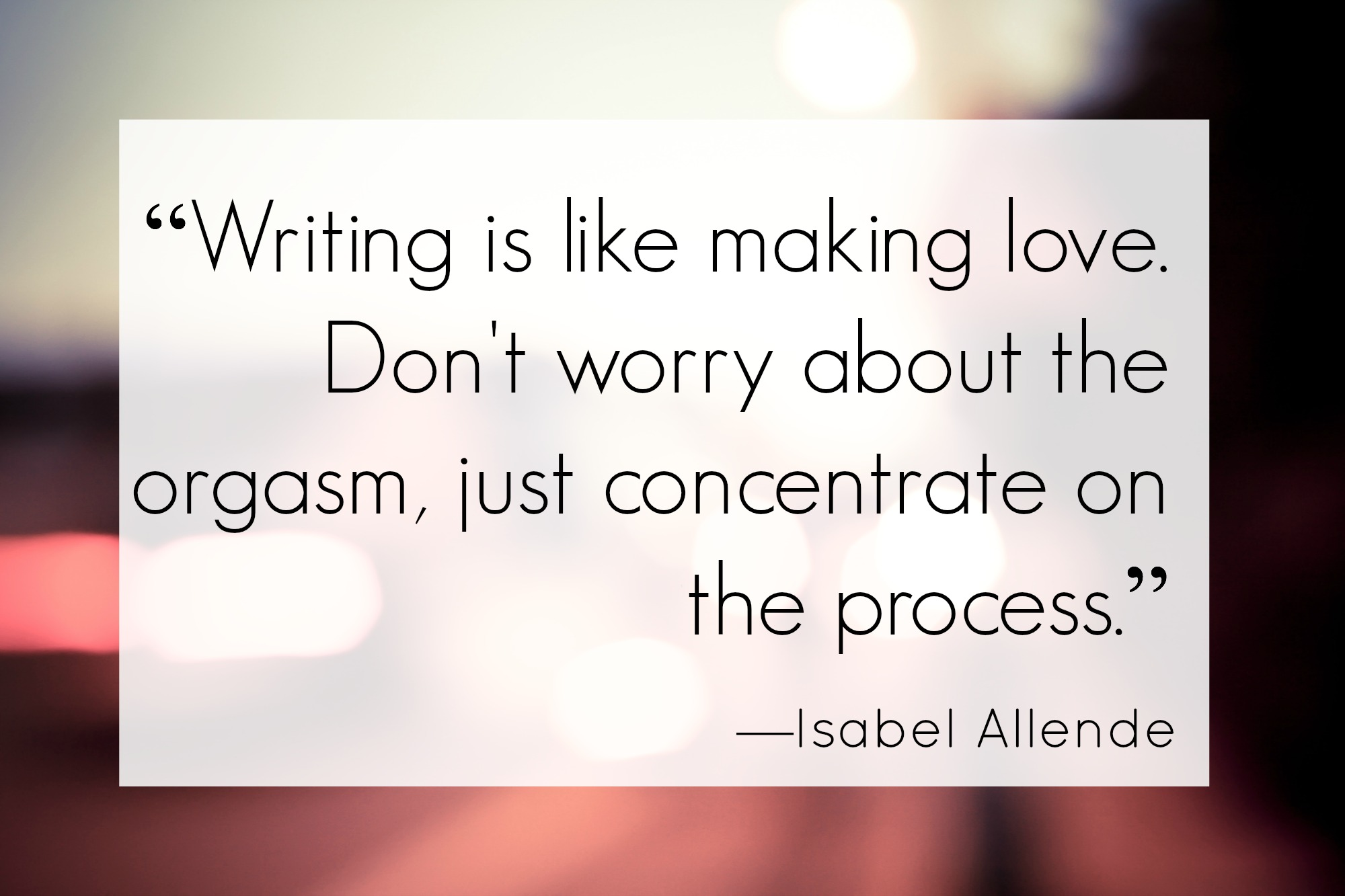 Allende on Writing