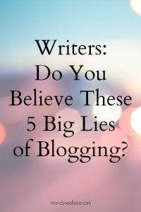 Writers: Do You Believe These 5 Big Lies of Blogging? + Book Giveaway