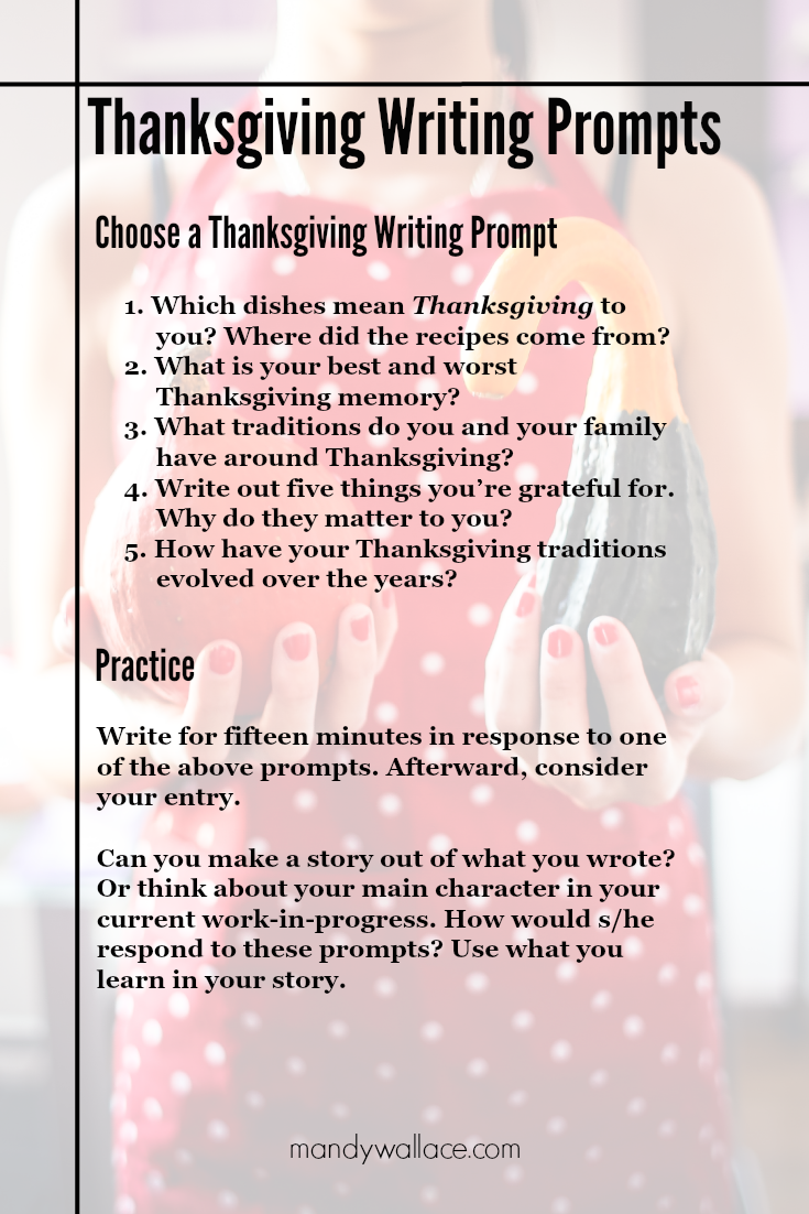 Thanksgiving Writing Prompts (For Journal Entries and Fiction Writing)