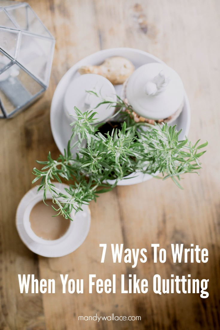7 Ways To Write When You Feel Like Quitting