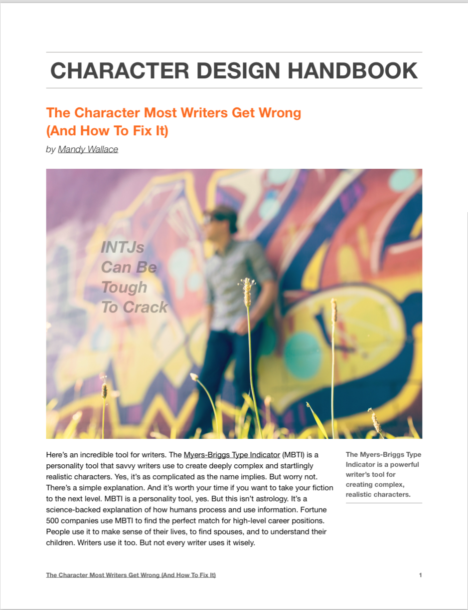 Character Design Handbook : Get your free character design guide mandy wallace