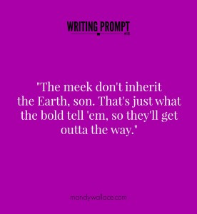 Writing Prompt #116: The Meek vs The Bold