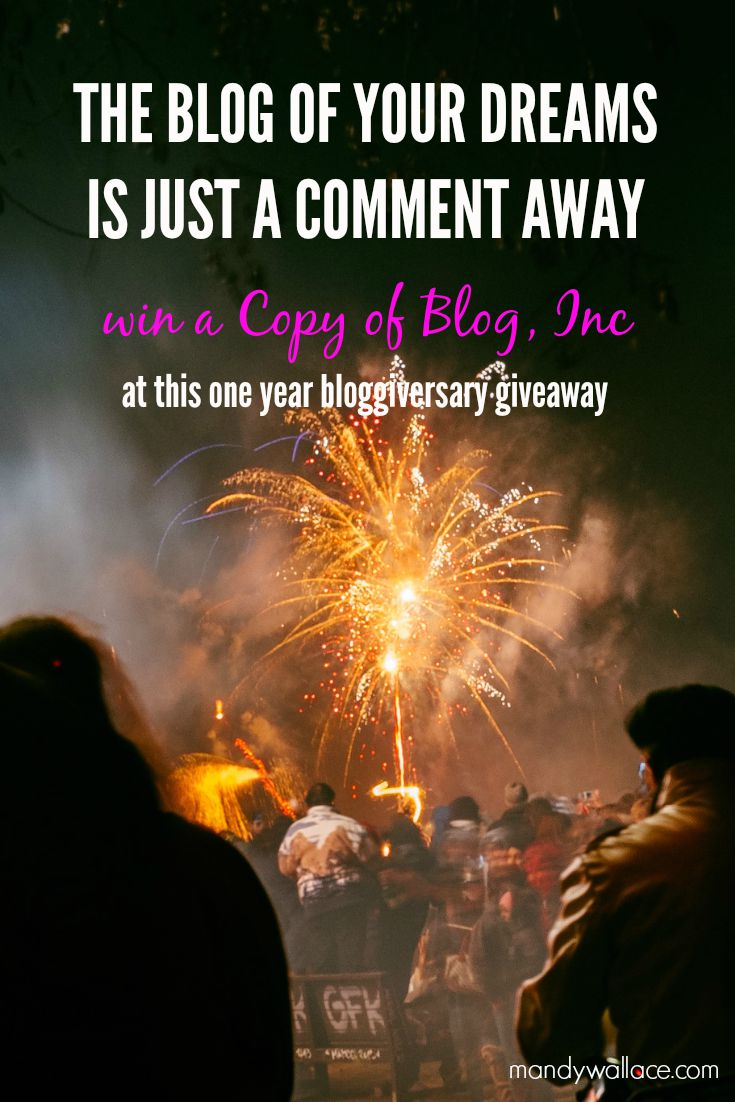 Win a Copy of Blog Inc at This One Year Bloggiversary Giveaway