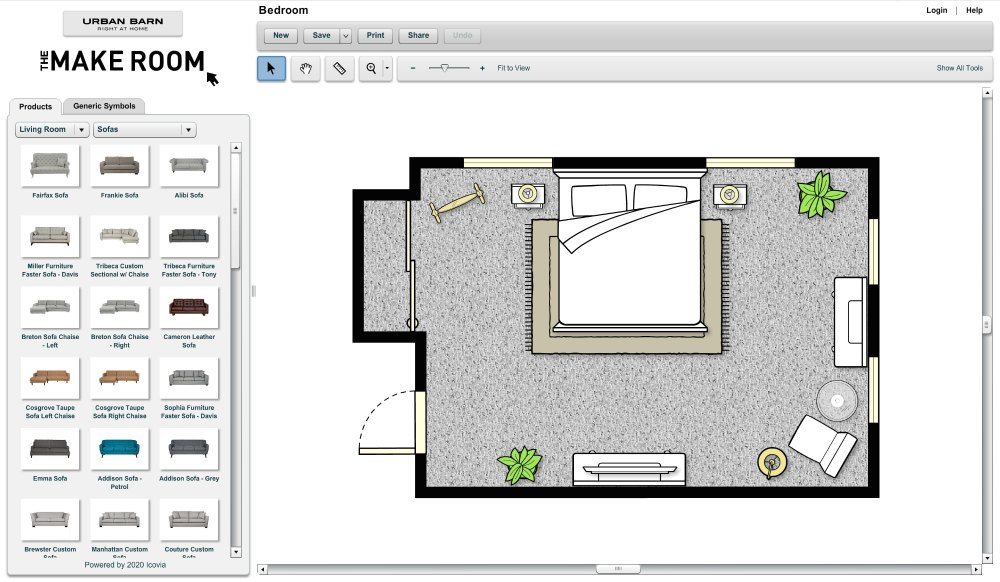 Design story and scene settings with Icovia floor planner