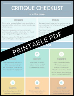 Writing Critique Checklist | Printable PDF